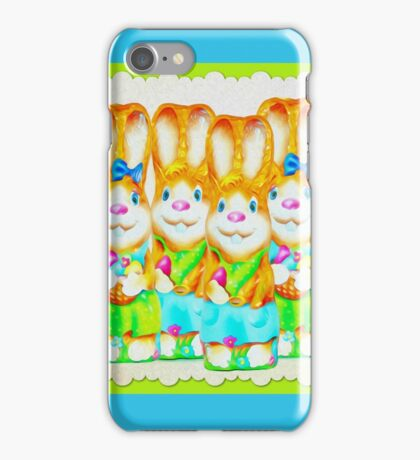 Funny Bunny Bunch Happy Easter iPhone Case/Skin