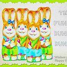 Funny Bunny Bunch Happy Easter by patjila