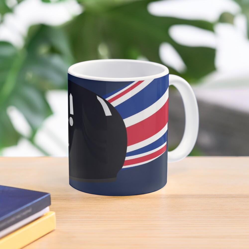 90's British racing driver helmet Mug