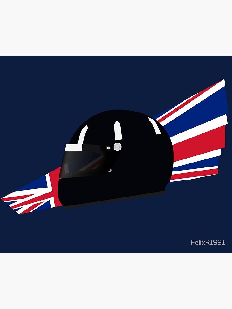 90's British racing driver helmet by FelixR1991