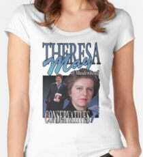 THERESA MAY CONSERVATIVES VINTAGE Tee Women's Fitted Scoop T-Shirt