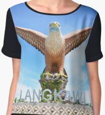 Eagle Square Statue on the Waterfront in Langkawi Island Women's Chiffon Top