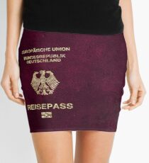 German Passport Vintage Mini Skirt