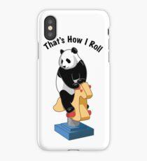 Panda Bear That's How I Roll iPhone Case/Skin