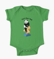 Panda Bear That's How I Roll One Piece - Short Sleeve