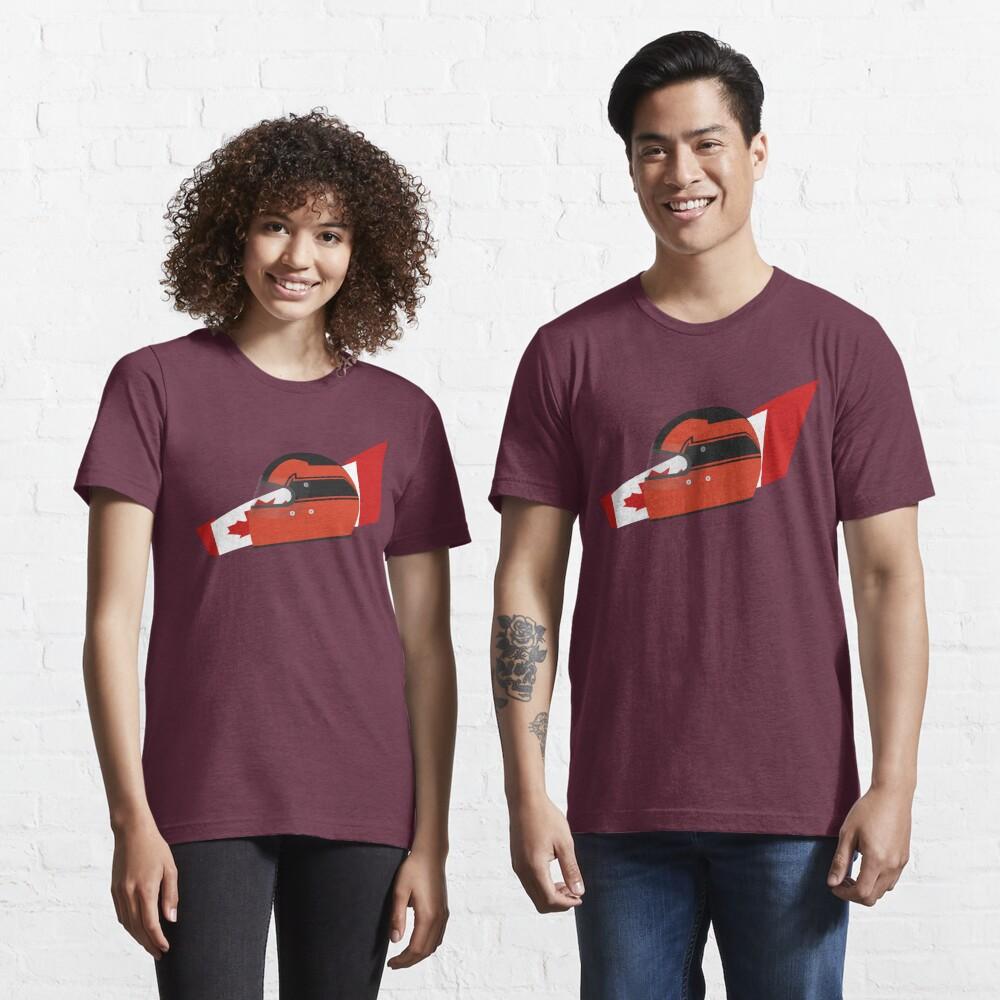 80's Canadian racing driver helmet Essential T-Shirt
