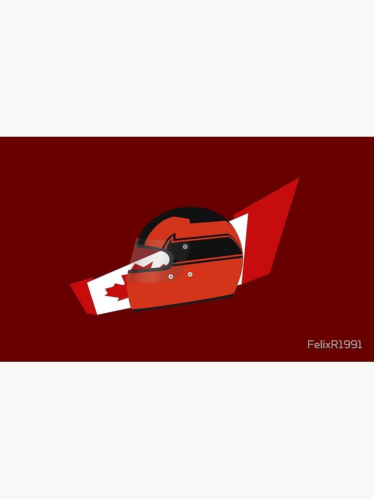 80's Canadian racing driver helmet by FelixR1991