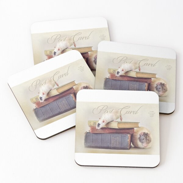 Snoozy and Billy Coasters (Set of 4)