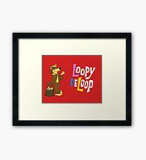 Loopy De Loop, Hanna-Barbera classic cartoon Framed Print