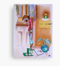 Oh, to hang in the Louvre. . . Canvas Print
