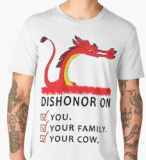 Dishonor on you your family your cow Men's Premium T-Shirt