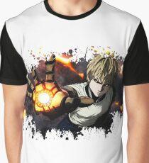One Punch Man Genos splatter Graphic T-Shirt