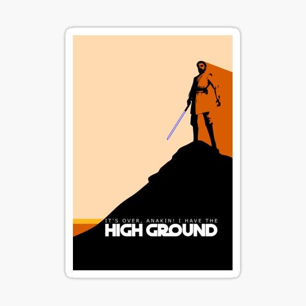High Ground Prequel Memes - Colour Sticker