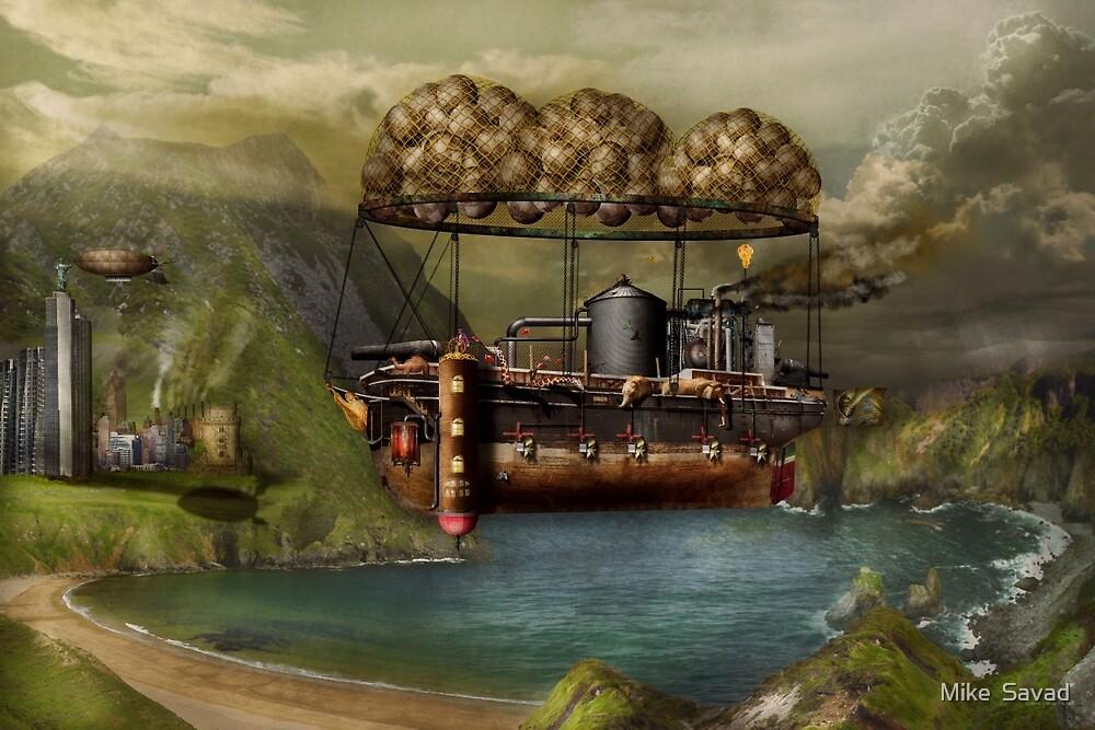 Steampunk - Airship - The original Noah's Ark by Michael Savad