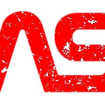 Logotipo de Look angustiado de la NASA de PixelatedPixels