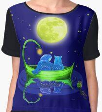 Owl & Pussy Cat moonlit floating Chiffon Top