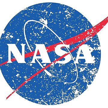 Camiseta con look apenado de la NASA de PixelatedPixels