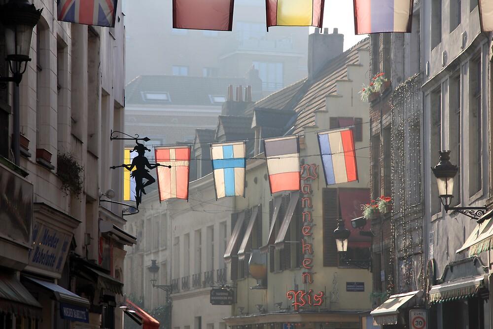 Street in Brussels by Wesley Guijt