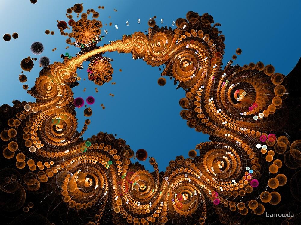 Swirling Golden Coins by barrowda