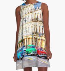 Wacky Races Havana Cuba  A-Line Dress