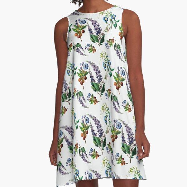 Heritage Flowery Fruity Botanicals  A-Line Dress