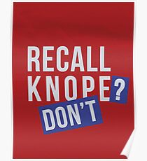 Recall Knope? Don't Poster