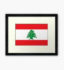 Flag of Lebanon Framed Print