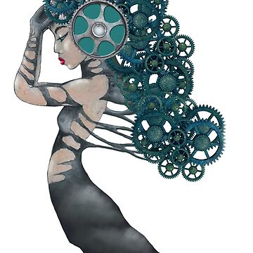 Steampunk Lady with Gears by boschthurlings
