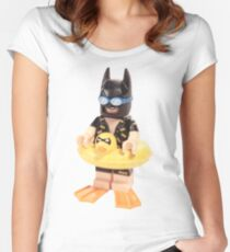 Bat Duck Women's Fitted Scoop T-Shirt