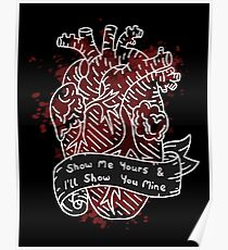 Heart Illustration - Show Me Yours... Poster