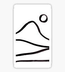 Black and White Landscape Sticker