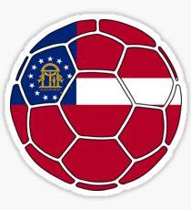Georgia flag soccer ball Sticker