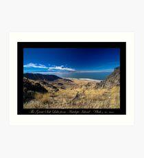 The Great Salt Lake from Antelope Island - Utah nature landscape print Art Print