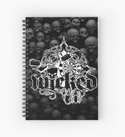 Wicked Darts Shirt Spiral Notebook