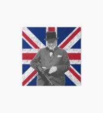 Churchill Posing With A Tommy Gun Art Board