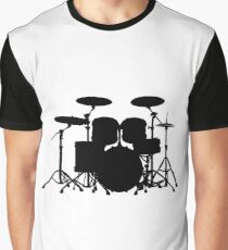 Drums (black) Graphic T-Shirt