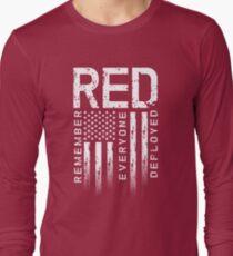 Remember Everyone Deployed-Military R.E.D. Long Sleeve T-Shirt