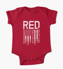 Remember Everyone Deployed-Military R.E.D. One Piece - Short Sleeve