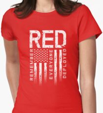 Remember Everyone Deployed-Military R.E.D. Women's Fitted T-Shirt