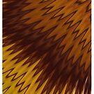 Yellow/Brown Diagonal Pattern by Lyle Hatch