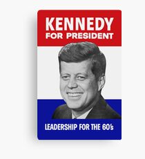 Kennedy For President - Leadership For The 60's Canvas Print