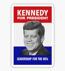 Kennedy For President - Leadership For The 60's Sticker
