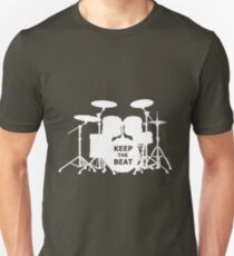 Drums - Keep the beat (white) Unisex T-Shirt