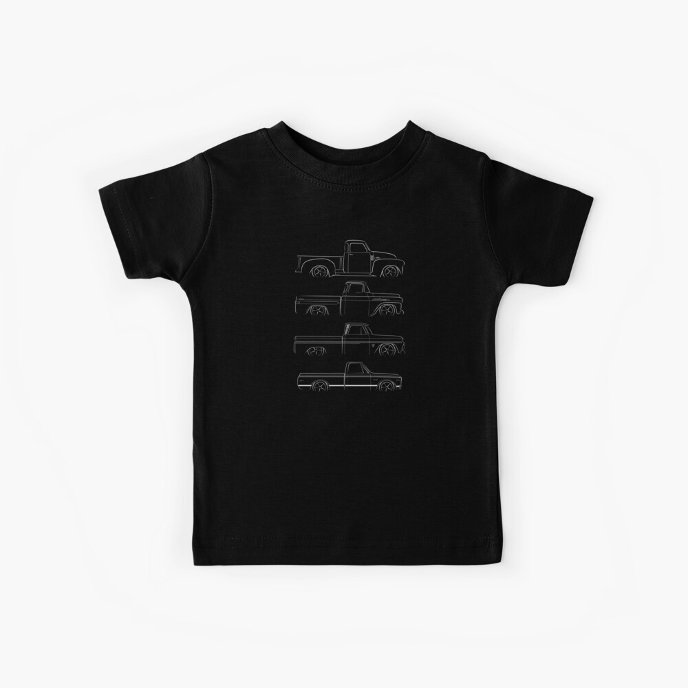 Evolution of the Chevy Pickup  Kids T-Shirt