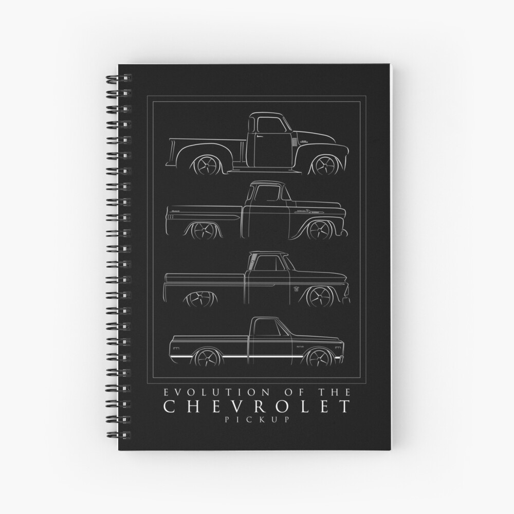 Evolution of the Chevy Pickup  Spiral Notebook