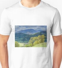 Wetherlam from above Elterwater Lake District Unisex T-Shirt