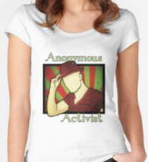 Anonymous Activist Women's Fitted Scoop T-Shirt