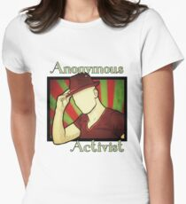 Anonymous Activist Womens Fitted T-Shirt