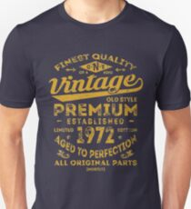 Vintage 1972 Birthday Gift Idea T-Shirt