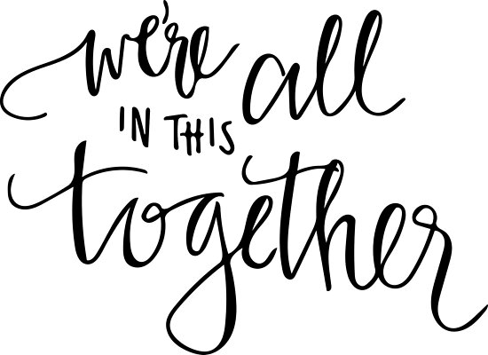 we 39 re all in this together posters by hintofmint redbubble